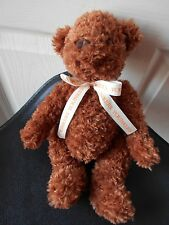"""YOUNKERS PLUSH BEAR 11"""" TALL CUTE CURLY BROWN SAKS"""