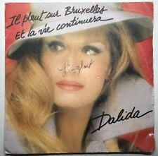 Ref1453 Vinyle 45 Tours Dalida Il Pleut Sur Bruxelles Et La Vie Continuera