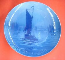 "1918 Bing & Grondahl Christmas Plate B&G ""Fishing Boat Returning Home"""
