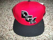 DGK DIRTY GHETTO KIDS New NWT Mens Snapback Adjustable Red Black Logo CAP HAT