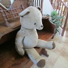 "Large Plush Stuffed BEAR   (""Rushton"")     VINTAGE"
