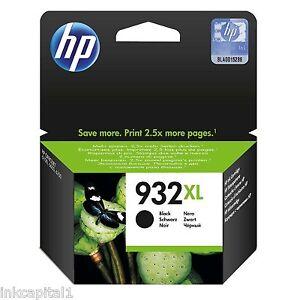 1 x HP No 932XL Black Original OEM Inkjet Cartridge CN053AE Officejet