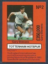 EMLYN HUGHES TEAM TACTIX-1986-REF-#TH-002-TOTTENHAM-BRIGHTON-GARY STEVENS