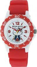 hm0342 CITIZEN Q&Q SUNRIO Hello Kitty waterproof wrist watch White Red VQ75-232