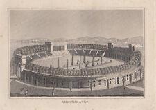 Milano, anfiteatro, 1834 bulino acquaforte