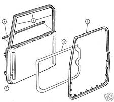 JEEP WRANGLER TJ LJ 1997-2006 RIGHT FULL DOOR WEATHER SEAL WITH CLIPS, BRAND NEW