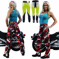 WOMENS RED CAMO CARGO MOTORCYCLE REINFORCED WITH DuPont™ KEVLAR® JEANS 10