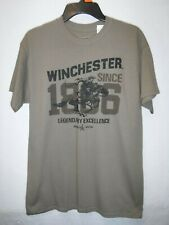 MENS SIZE MEDIUM BROWN WINCHESTER EXCELLENCE GRAPHIC TSHIRT NEW #14783