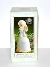 Precious Moments Wishing You The Sweetest Christmas 530174 1993 porcelain bell i