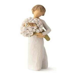 Willow Tree 2021 Dated Bountiful Figurine Flower Bouquet Hand Painted Ornament