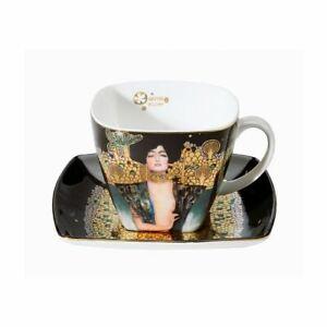 "Goebel Klimt "" Judith I "" Coffee Cup New/Boxed Artis Orbis Design Cup Black"
