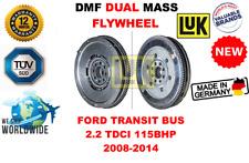 FOR FORD TRANSIT BUS 2.2 TDCI 115BHP 2008-2014 NEW DUAL MASS DMF FLYWHEEL