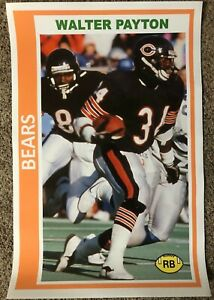 1978 style WALTER PAYTON Chicago Bears Poster SI Sports Illustrated like photo