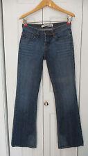 Express Women's Low Rise Slimmer Fit Flare Leg Blue Denim Jeans Size 0