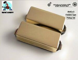 G.M. SongBird Firebird Set Alnico Magnets Gold (set of 2 Neck and Bridge)