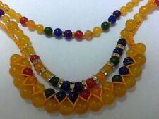 Handmade Alloy Jade Round Costume Necklaces & Pendants