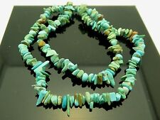 "Natural Untreated Genuine Turquoise Nugget Chips 3-5mm Gemstone Beads 15.5"" Std"