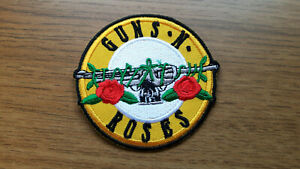 GUNS `N`ROSES ROUND Embroidered Iron On Sew On Patch
