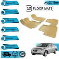 3D Molded Interior Car Floor Mat for Volvo S40 2004-2010(Beige)