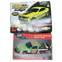 Lot Of 2 Model Car Kits Max Traxxx Camaro SS & SnapTite 18 Monte Carlo Open Box