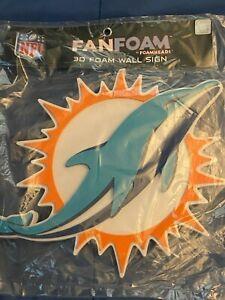 Miami Dolphins Fan Faom 3D Foam Wall Sign *NEW/UNUSED* a1