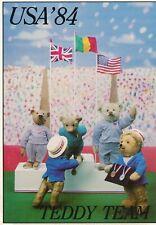 1984 Olympic Games Los Angeles, Teddy Team, original postcard.