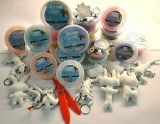16x Foam Clay 6x Silk Clay Modelliermasse Knete 9x Schlüsselanhänger 3x Echsen
