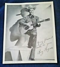 Roy Rogers with guitar Starring in REPUBLIC WESTERNS 1940's Publicity Photo 8x10