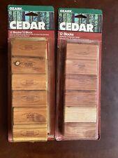 Ozark Cedar Clothing Wood Blocks Aromatic