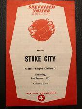 Sheffield United v Stoke City, (Div 2), 21.1.1961.
