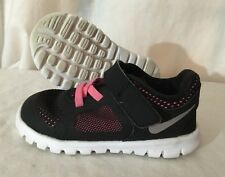 Nike Flex Shoes Baby Toddler Size 6C Pink And Black