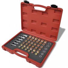 114p Car Oil Pan Thread Repair Sump Pump Gearbox Drain Plug Washer Seal Tool Kit