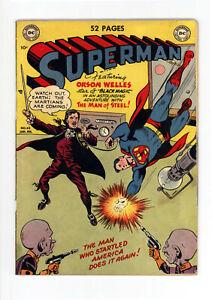 "SUPERMAN #62 - GREAT GOLDEN AGE: ""MARS ATTACKS!"" - MXYZTPLK - 1950"