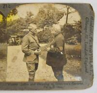 Stereoview Keystone View Company V18848 Joffre And Pershing Paris France O AS IS