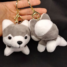 Husky Dog Gift Lovely Handbag Pendant Key Chain Key Holder Plush Stuffed Toy