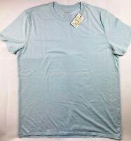 NWT NEW Men's Lucky Brand Venice Burnout Light Blue Crew T-Shirt Top Tee
