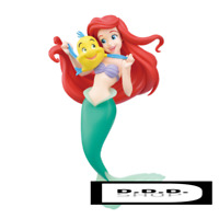 "SEGA Disney Princess super premium figure ""Ariel"" 21†B Little Mermaid japan"