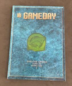 Jacksonville Jaguars Inaugural Game Day Program 9/5/95 Houston Oilers Good CNDTN