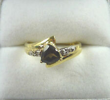 0.61ct Natural Topaz/Diamond Solid 9k/375 Two-Tone Gold Ring US (7 1/2) AU (P)