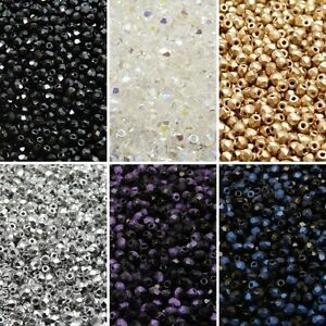 600pcs 3mm 6 colors Set Fire Polished Faceted Round Beads Czech Glass (3SFP615)