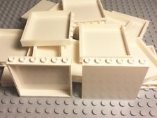 Lego X10 New Bulk Lot White Panel 1x6x5 Parts For Large City Building Projects