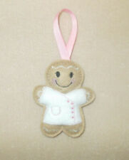 Beautician Gingerbread Felt Embroidered Hanging decoration ornament
