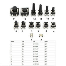 140pcs 14 Types Momentary Tactile Push Button Switch Micro SMD Tact Switches BES