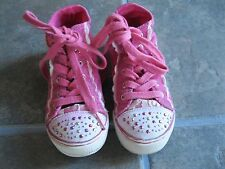 Naartjie HighTop Pink Shoes Boots Rachel Embroidery Gems sz 11 used