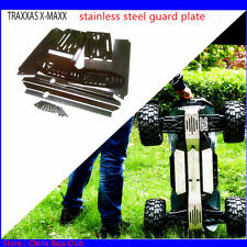 1/5 traxxas x-maxx stainless steel guard chassis protection plate 6s & 8s