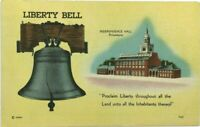 Liberty Bell Independence Hall Philadelphia Pennsylvania PA Vintage Postcard