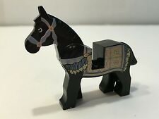 LEGO Horse, Prince of Persia 4493c01pb06 w/ Sand Blue and Gold Bridle Persian