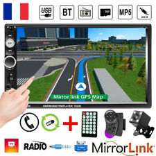 "7"" 2 DIN Autoradio Bluetooth Écran tactile MP5 Player TF FM AUX No GPS +Caméra"