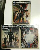 Captain America Trilogy 4K UHD Blu-Ray Digital HD Steelbook Avenger Winter Civil