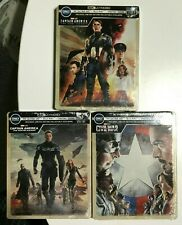 Captain America Trilogie 4k UHD Blu-Ray Digital HD Steelbook Avenger Winter